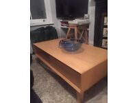 Stylish oak coffee table in excellent condition. £115 ono