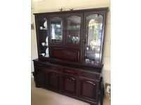 Mahogany veneer furniture