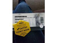 2 haydock county tickets for 25th november