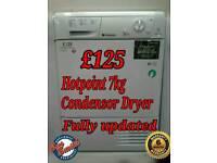 Hotpoint 7kg Condensor Tumble Dryer White