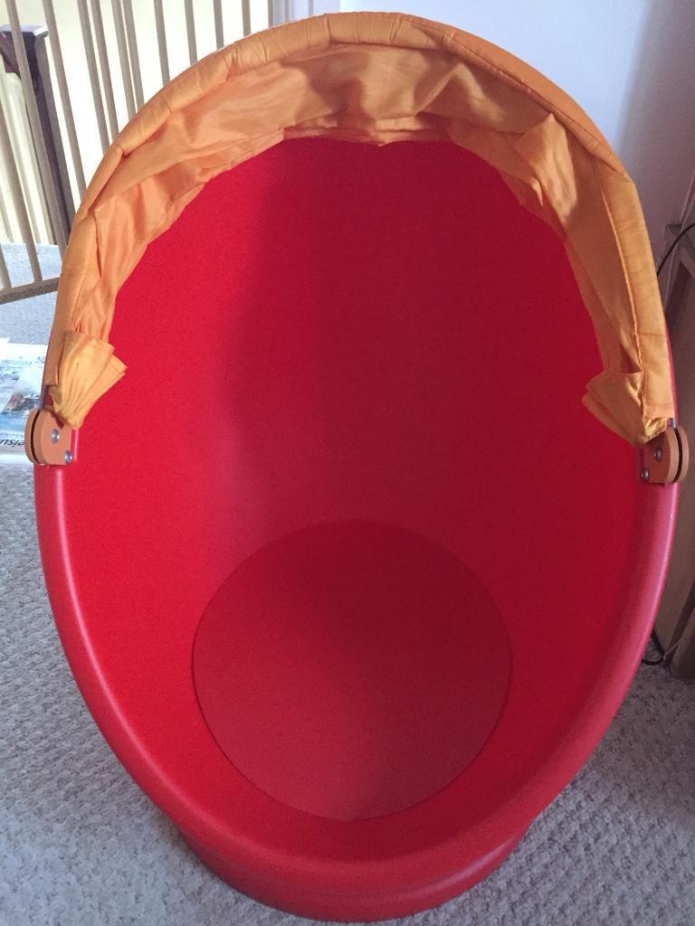 Ikea Red swivel chair