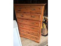 Large Schreiber chest of drawers & bedside unit set