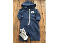 Converse Baby Suit and Socks (0-3 months)