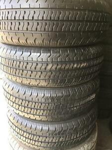 E008) 4-185/60r15 continental all season tires  great tread $140 set of 4