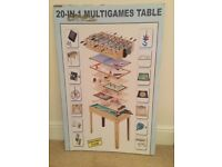 Children's Multi Games Table
