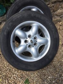 5 Land Rover Alloy wheels fit tyres 25/65 R16