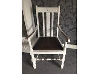 Distressed Old White chair
