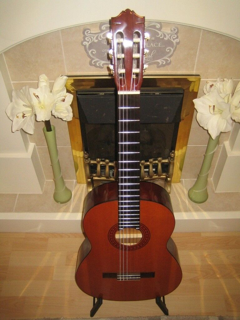 Yamaha C40 (C-40) Classical Guitar Nylon String Acoustic Guitar & RokSak Gigbag
