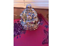 Heavy Silver Coloured Buddha