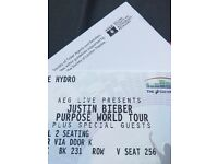 Justin Bieber tickets Glasgow 27th x2