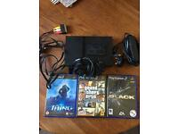 PS2 slim console + 3 games