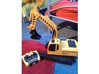 Kids yellow & black remote control digger