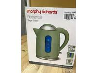 Morphy Richards sage green kettle NEW in box
