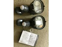 Two outdoor security lights