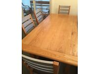 # SOLD # Extendable Oak Dining Table & Six Chairs
