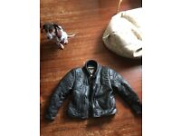 "44"" Chest Frank Thomas bike jacket."