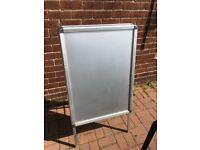 A Frame Sign. Advertising. Shop Pub Retail ETC. Aluminium. Lightweight & Strong Good Clean Condition
