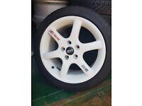 4 x Oz white racing wheels
