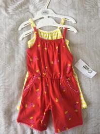 Brand new Mns 3-6 month baby girl rompers