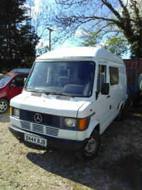 Mercedes 207D ready to camp, 12mths MOT LHD
