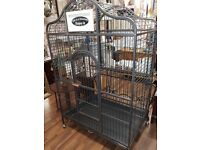 Large Decorative Metal Parrot Cage. Preowned but Immaculate condition