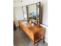 Mid Century A. Younger dressing table with bedside table