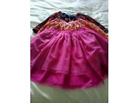Kids x3 skirt 1 pink, 1peach, 1 tartan excellent condition