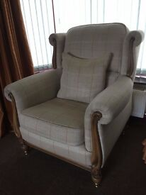 Ex Ponsfords Sofa, two chairs and two footstools