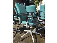 Assorted selection of office chairs