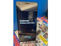 Samsung Galaxy A01 Core Black 16GB 1GB Ram Dual sim Version 10 Good used Working Condition Unlocked