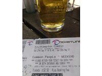 Common people Southampton weekend student ticket