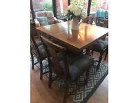 Beautiful solid wood dining table and 4 chairs - SOLD