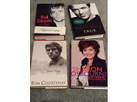 Signed books - Rupert Everett Sharon osbourne Martin kemp tom Courtenay