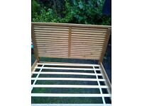Schriber wooden bed frame as new condition.