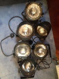 6 portable stage lights / spotlights