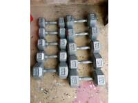 Dumbell set various heavy weight pairs