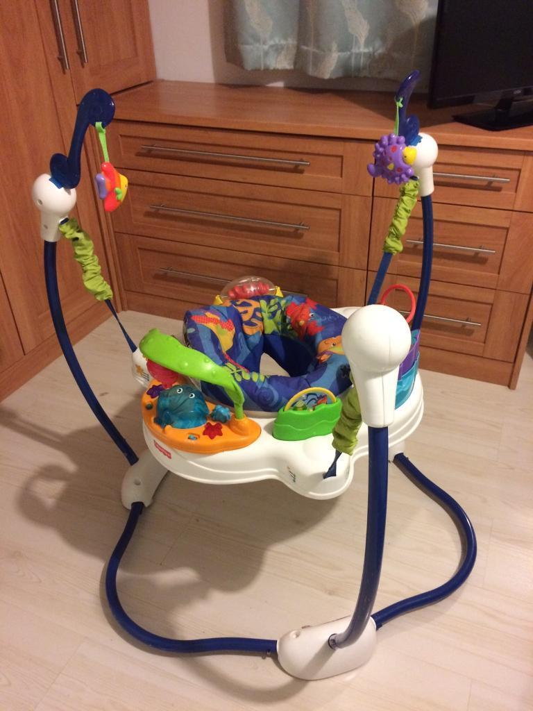 Fisher price ocean wonders jumperoo in huntington north for Door jumperoo
