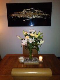 Bespoke champagne gold wall art