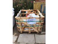 2 x strong wooden crates used for stone flags