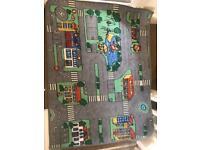 Hot Wheels cars x37, Car mat & Hot Wheels Monster Jam vehicle x2 & trailer