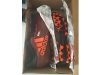 Adidas Artificial Grass X 17.3 Boots Brand New Size 8, Tango Orange