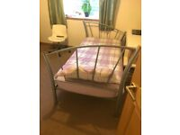 Single bed inc bedding and mattress
