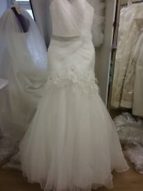 New ivory wedding gown