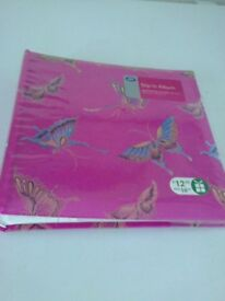 pink with butterfly pattern photo album holds 200 (6x4inch )