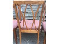 4 GPlan dining chairs
