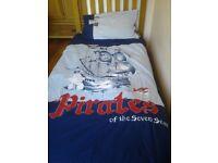Next Pirates theme single duvet and pillow case - excellent condition