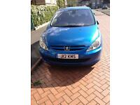 Peugeot 307 SE HDI+private number plate