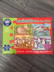 Orchard animals four in a box jigsaws