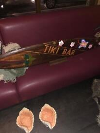 Tiki surf board deco