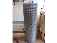 """25m (approx) Roll of galvanised wire welded mesh, 1"""" by 0.5"""""""